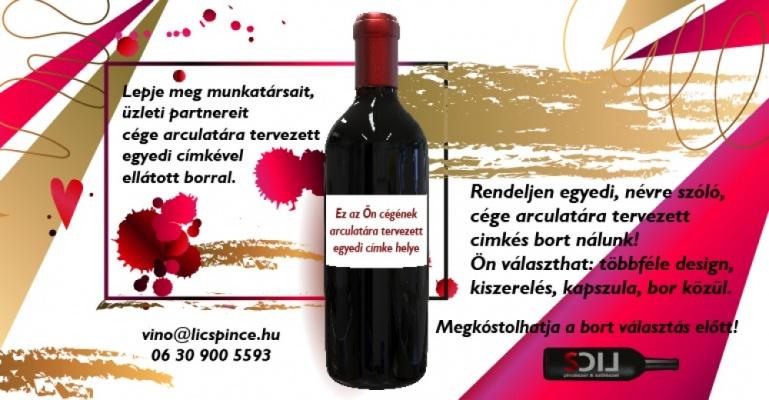 Egyedi címkés borok rendelhetők