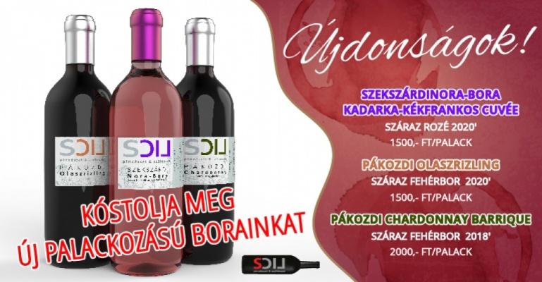 Új palackozású Lics borok